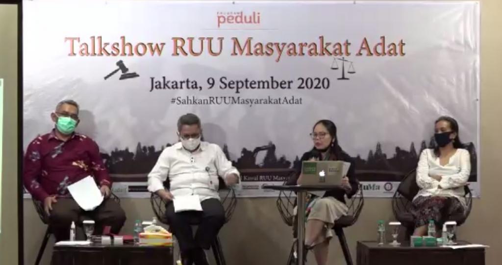 Talkshow RUU Masyarakat Adat – 9 September 2020